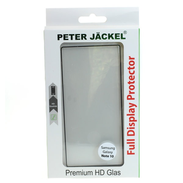 PETER JÄCKEL FULL DISPLAY HD Glass SUPERB PLUS für Samsung Galaxy Note 10 - Black