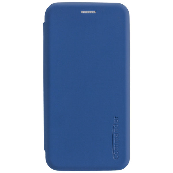 COMMANDER Book Case CURVE für Apple iPhone 11 - Soft Touch - Light Blue
