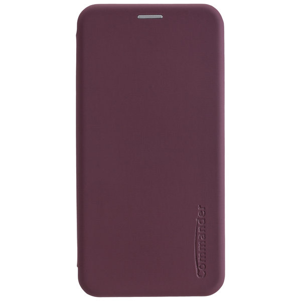 COMMANDER Book Case CURVE für Samsung Galaxy A21s - Soft Touch - Bordeaux